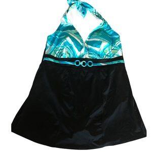 Fashion Bug halter top swim dress size 18W